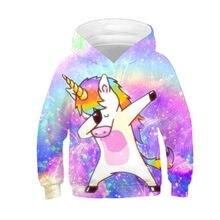 51f475407e786 Nouveau 2019 enfants mode Dab Anime Hoodies garçons filles sweat-shirts  drôles Dabbing licorne coloré galaxie enfants pulls haut.