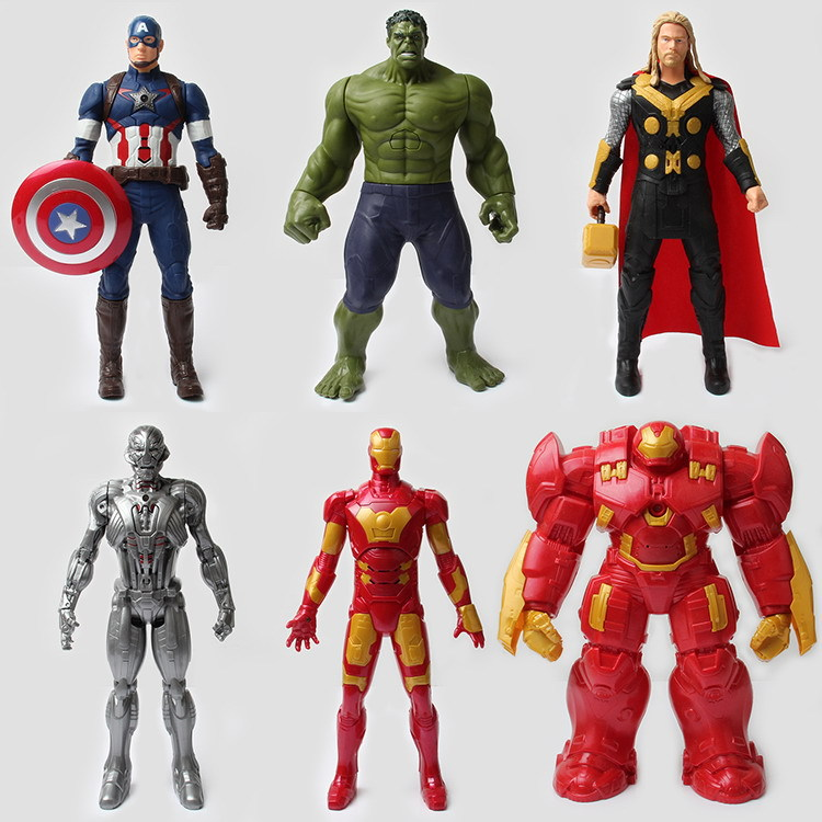 Children toy Marvel Avengers Figure super hero 30cm Captain America 3 Iron Man Hulk Raytheon kids Action Figures Model boy Toys wooden magnetic labyrinth maze educational game toy