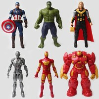Children Toy Marvel Avengers About 30cm Captain America 3 Iron Man Hulk Anti Hulk Raytheon Kid