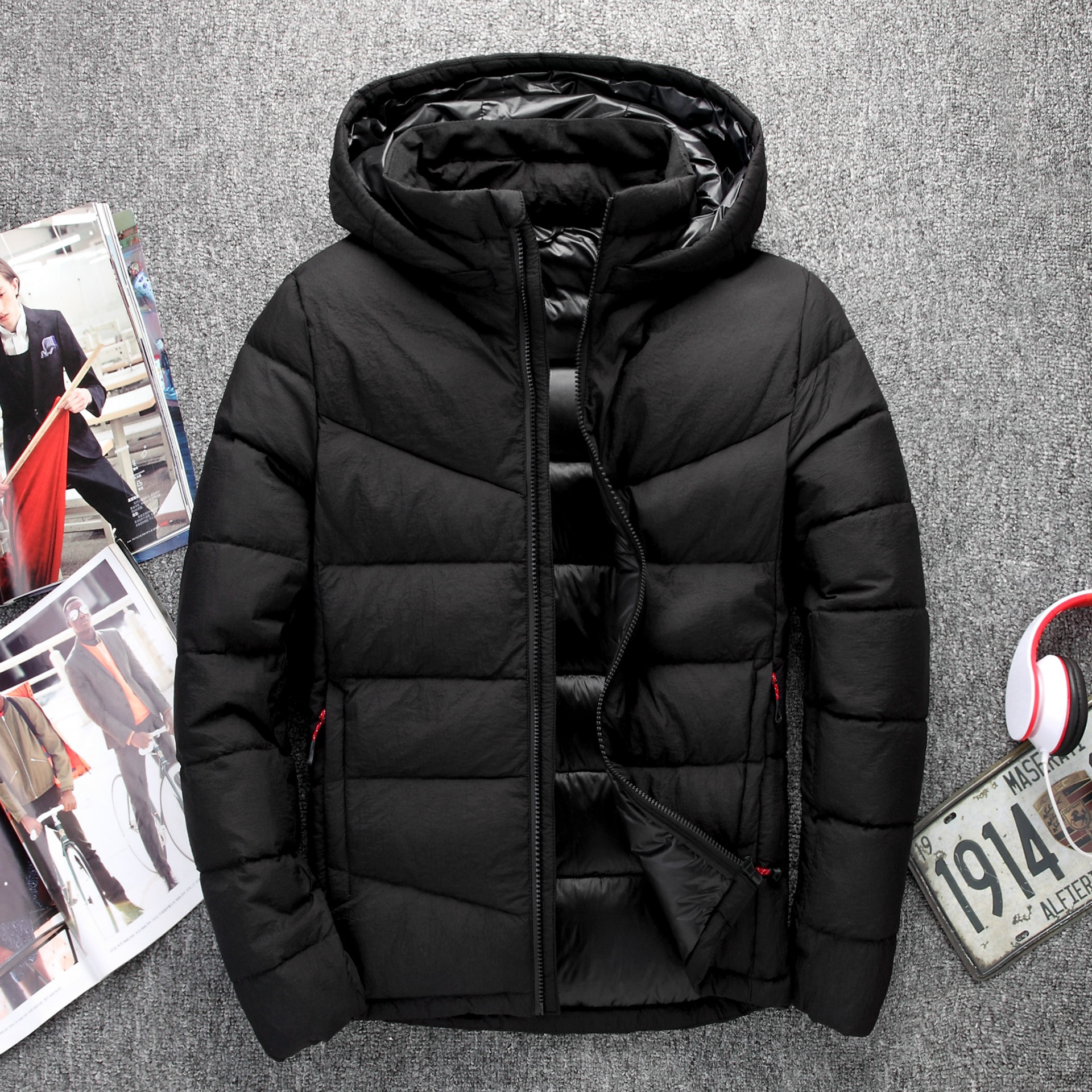 Mens Winter Thick Hooded Down Jackets Male Casual hoodie Men Jacket Coat 90% White Duck Down Jacket Warm Mens Snow Overcoat