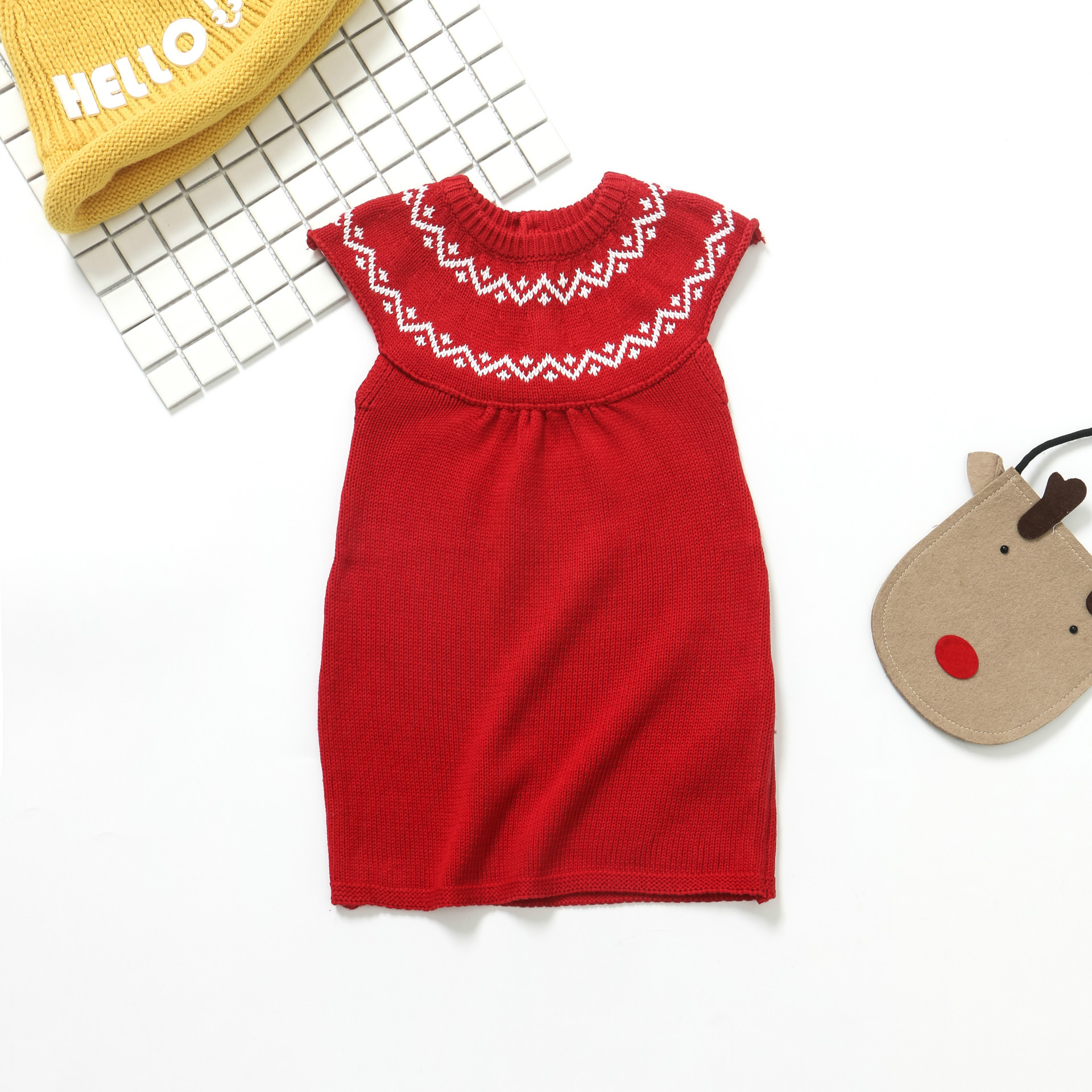 2017 Autumn new baby girl knitted dress Korea style infant baby