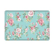 CHARMHOME Pink Rose Flower Flannel Microfiber Shower Accent Rug - Aqua Non-slip Soft Absorbent Bathroom Kitchen Floor Mat Carpet(China)