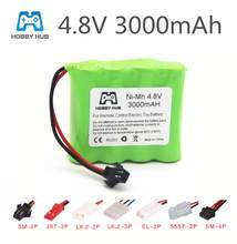 4.8v rechargeable battery For Tanks robots 3000mah Ni-MH battery nimh aa 4.8v pack 3000mah batteries for RC cars 4.8v RC boat(China)