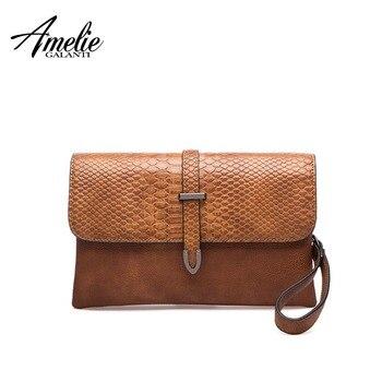 1c9b0a44f04c AMELIE GALANTI Женская сумка через плечо женская сумка стильная мягкая  искусственная кожа Повседневная маленькая сумка-конв