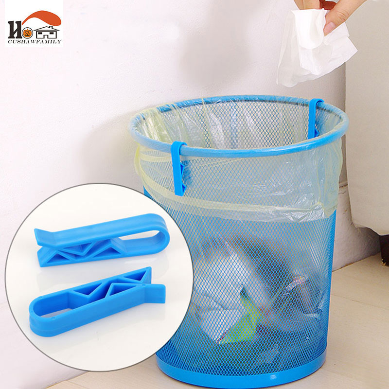CUSHAWFAMILY 4pcs/lot useful home organizer clip/Dustbin Clamp/Waste Bin Bag garbage bags non-slip clip,trash can retaining clip