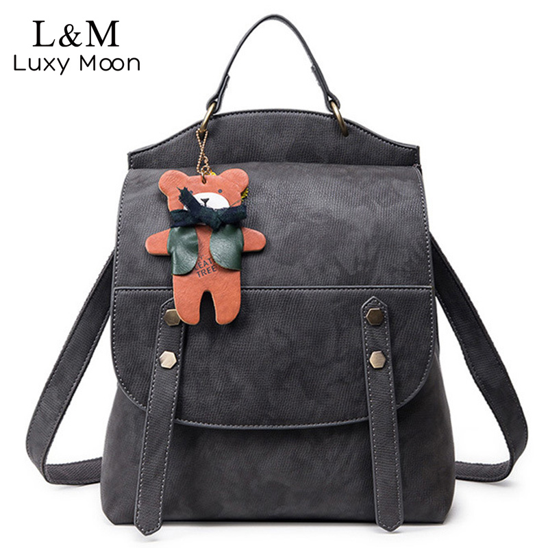 Women Backpack Vintage Backpacks for Teenage Girls Casual Shoulder Bag High Quality PU Leather Rucksack Cute