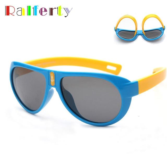 9d14a39ae7055 Ralferty TAC Flexível Crianças Óculos De Sol Meninos Meninas da Criança  Polarizada Óculos De Sol Super