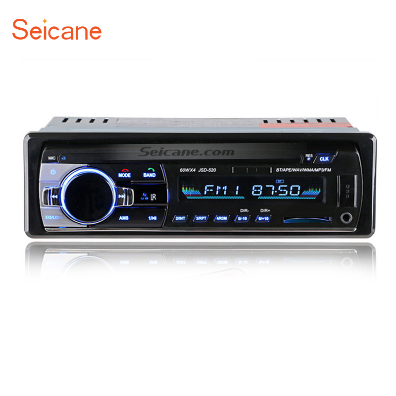 Seicane Universel 1 Din Audio Stéréo Radio Bluetooth Mains Libres Appels Lecteur MP3 De Voiture FM avec 4 Canal SD Télécommande Aux