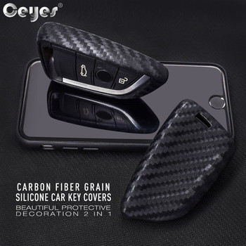 Ceyes Car-Styling Auto Protection Covers Shell Carbon Fiber Grain Stickers Case For Bmw X1 X5 X6 2014 2016 5 Series Accessories image