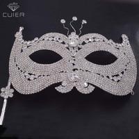 Handheld Mask rhinestones Luxury Venetian Ball Masks Masquerade Mask Party Supplies Christmas Halloween for women princess