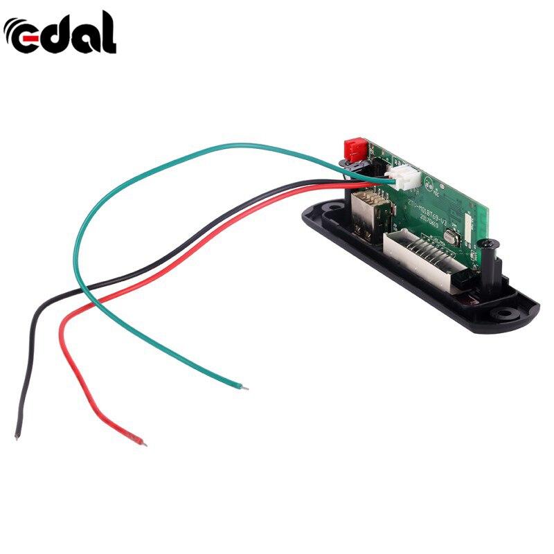 Universal 7-12V Car Bluetooth MP3 Decoder Board Decoding Player Module Support FM Radio USB/TF LCD Screen Remote Controller