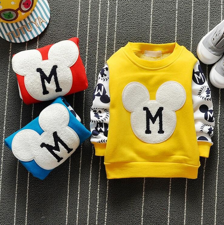 The new cartoon pattern fashion 0-2 year-old male and female baby long-sleeved clothes + free gifts 2