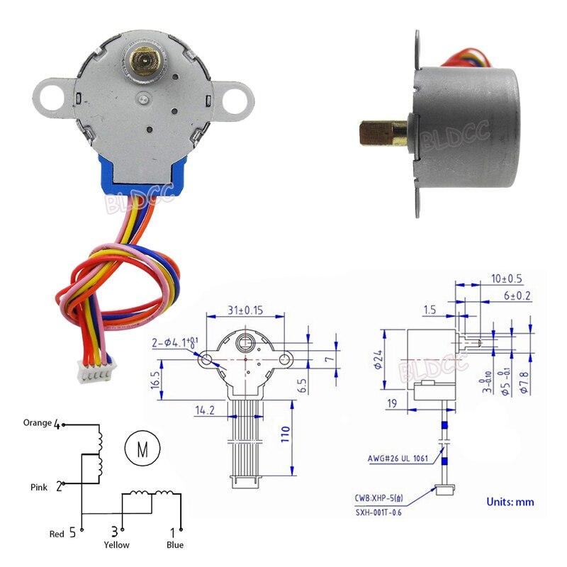 2x DC 5V Mini Linear Actuator Rotary Motor Reduction Gear Motor Unlocking Motor