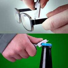 8 in 1 Bottle Opener Keychain Gadget Multi-function Outdoor Hanging Buckle Key Clip Stainless Steel