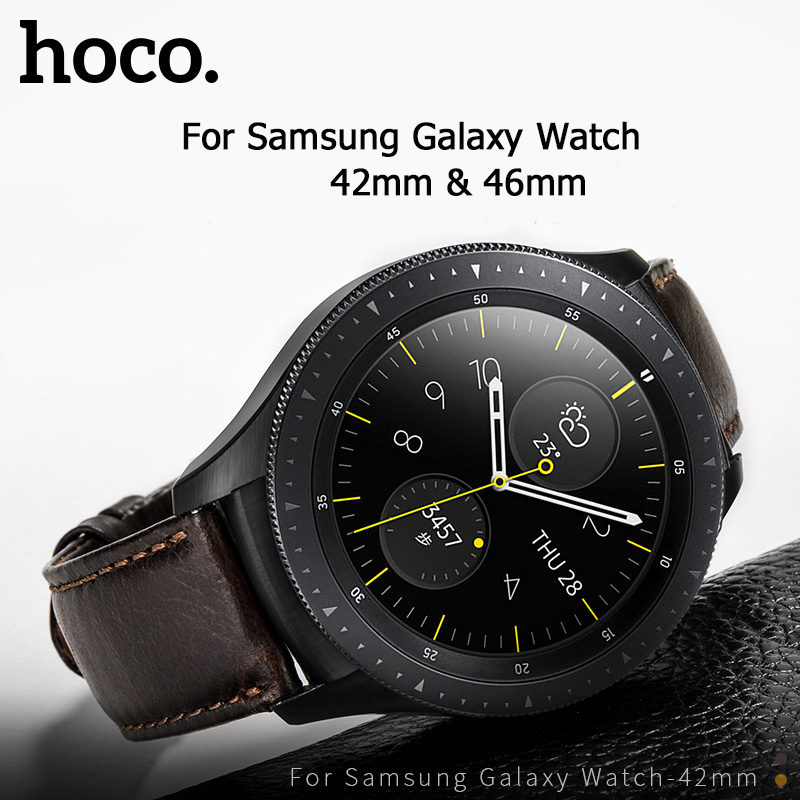 HOCO 20mm 22mm Genuine Leather Business Casual Strap For Samsung Galaxy Watch 42mm Also Compatible For Samsung Galaxy Watch 46mm-in Watchbands from Watches
