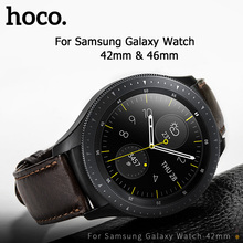 HOCO 20mm 22mm Genuine Leather Business Casual Strap For Samsung Galaxy Watch 42mm Also Compatible For Samsung Galaxy Watch 46mm