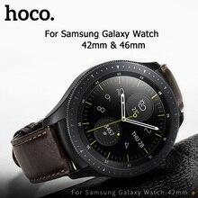Ремешок HOCO из натуральной кожи для наручных часов, деловой повседневный браслет для Samsung Galaxy Watch 42 мм, совместим с Samsung Galaxy Watch 46 мм, 20 мм 22 мм