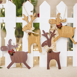 Christmas Deer Wooden Pendants Ornaments for Xmas Tree DIY Ornament Christmas Party Decorations Kids Gift hanging drop ornaments 1