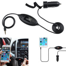 For Android Car Kit Handsfree 3.5mm AUX Audio Music Receiver Player Hands free Speaker 2.1A Adapter Dropshipping Voiture Screen(China)