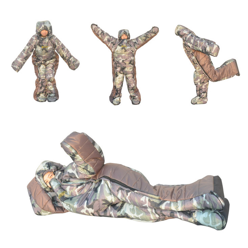 2019 New Sleeping Bag Comfortable Humanoid Sleeping Bag Outdoor Camping Lazy Bag Winter Backpacking Travel Hiking Equipment