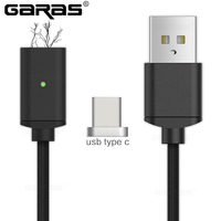 GARAS USB Type C/USB C Magnet Cable Fast Charger Type C/USB-C Charger Data Magnetic Cable For Xiaomi/Huawei Mobile Phone Cable