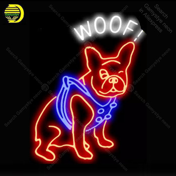 NEON SIGN For Woof Dog display Real GLASS Tube Decorate Handcraft letrero custom luces neon light lampara neon signs for sale