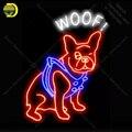 NEON ZEICHEN Für Woof Hund display Echt GLAS Rohr Schmücken Handwerk letrero nach luces neon licht lampara neon zeichen für verkauf Neonröhren & Röhren    -