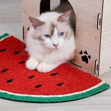 Cute Cat Scratch Board Natural Sisal Scratch-resistant Scratching Watermelon Blanket Scraper Mat Pet Products Funny Toy