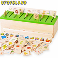 UTOYSLAND New Child Wooden Early Learning Box Shape Classification Education Observation Training Toy LKM01