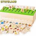 UTOYSLAND Nueva Caja De Madera De Aprendizaje Temprano Del Niño Educación Observación de Clasificación Forma Toy Formación LKM01