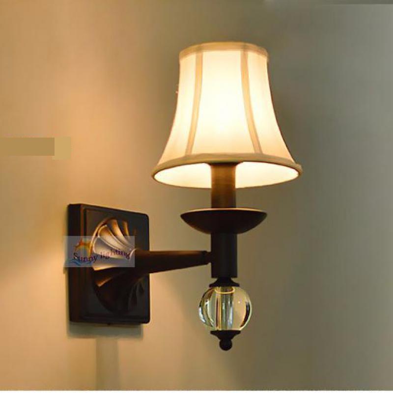 Warehouse Rustic Iron Wall Lamps E14 Bedroom Garden Indoor
