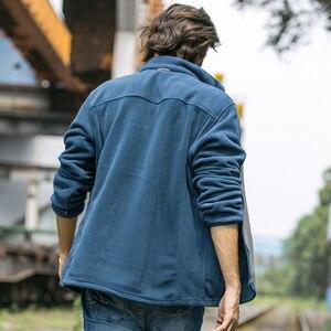 Image 4 - Мужская Флисовая Куртка Pioneer Camp, теплая брендовая одежда, пальто для осени и зимы, верхняя одежда высокого качества, 520500A