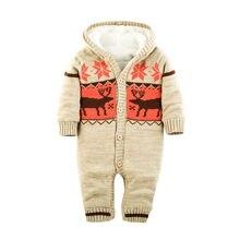 Muqgew bebé Mamelucos invierno grueso escalada ropa recién nacido Niños  Niñas mameluco caliente punto Navidad ciervos 4affec06f0fb