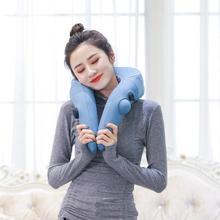 лучшая цена travel treasure simulative human kneading cervical vertebra massager u-type portable inflatable multi-functional pillow