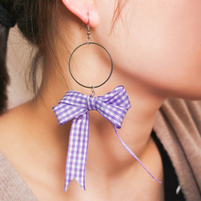 Anting hati yang manis untuk wanita personaliti reben ikatan simpul anting-anting jumbai drop anting-anting barang kemas fesyen hadiah oorbellen