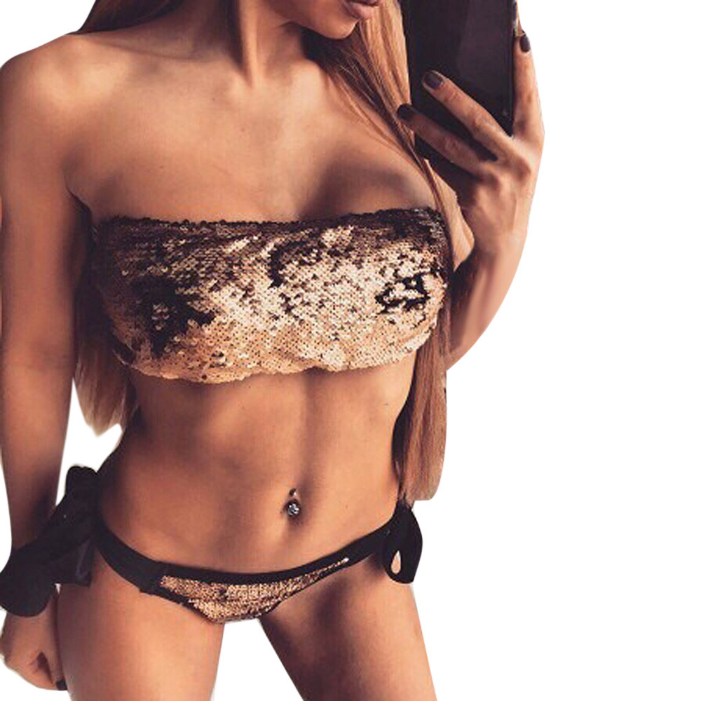 Swimwear 2019 Snake Women's Two Piece Print Sexy Split Swimsuit Bikini Swimsuit Beachwear Banador