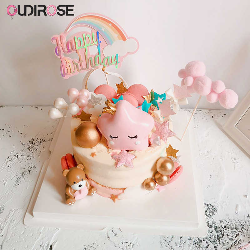 Prime Cute Resin Cartoon Ornaments Happy Birthday Cake Topper Decoration Funny Birthday Cards Online Aboleapandamsfinfo
