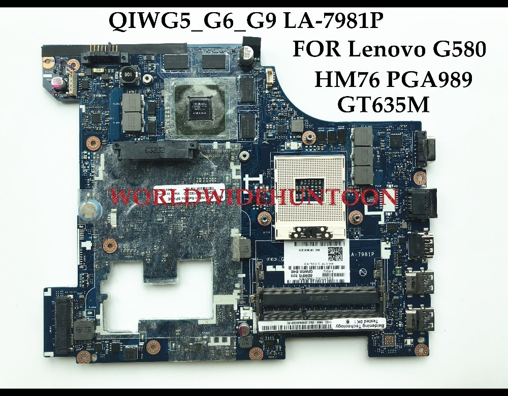 High quality QIWG5_G6_G9 LA-7981P for Lenovo G580 laptop Motherboard HM76 PGA989 DDR3 N13P-GLR-A1 GT635M 2GB Fully Tested 683495 001 for hp probook 4540s 4441 laptop motherboard pga989 hm76 ddr3 tested working