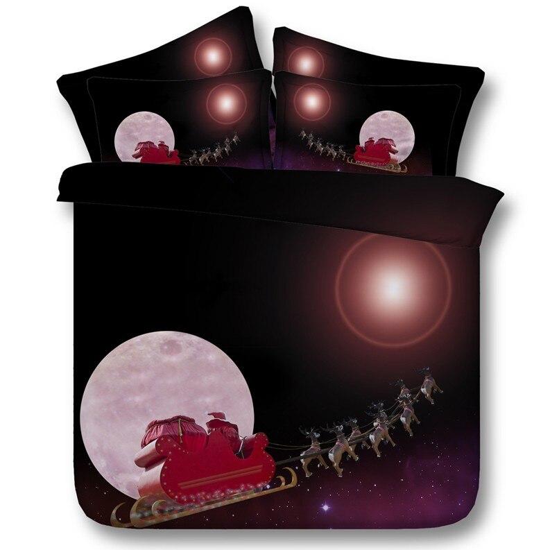 Set Lenzuola E Copripiumino.Luna E Stelle Di Natale Set Biancheria Da Letto Comforter Set