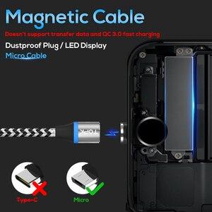 Image 2 - TOPK [5 Pack] RLine R LED Magnetic Micro USB Cable Đối Với Samsung