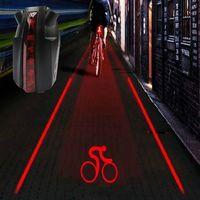 Велосипед Велосипедный Спорт Интеллектуальные Лазерная 5 светодиодных задних фонарей Велоспорт фонарь