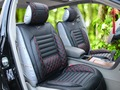 6pcs 3D VTI Universal Full Set Needlework PU leather Front Rear Car Seat Cushion Cover