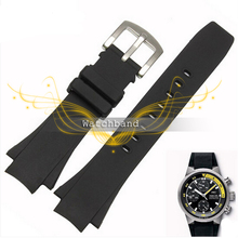 25 16mm Sport Silicone Rubber Strap Wrist Band Watchband Stainless Steel Buckle Waterproof Convex mouth silicone