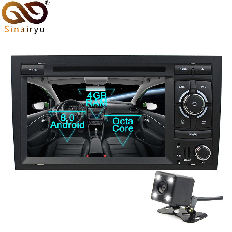 Sinairyu Android 8 0 Octa Core Car DVD Player for Audi A4 Seat Exeo 2002 2008
