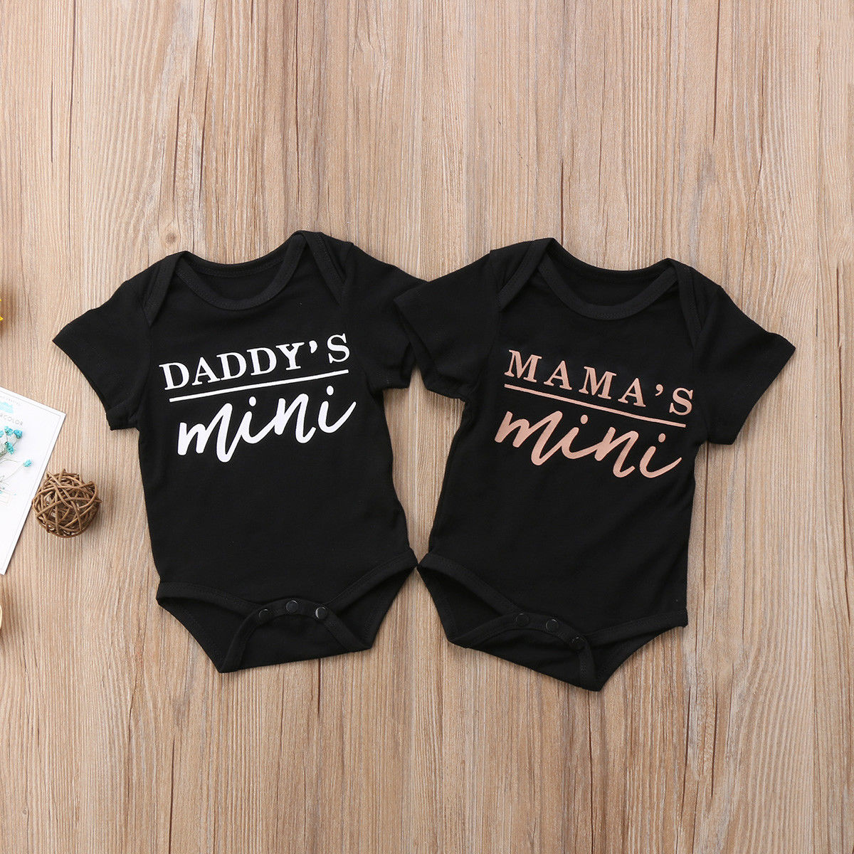 Baby bodysuit I listen to WU-TANG CLAN MOMMY pink MOM One Piece jersey t-shirt
