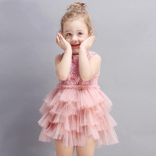 2017 little baby girls birthday party dress fluffy tutu