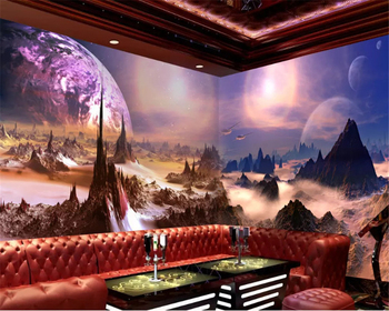 beibehang Fantasy fashion custom wall paper three-dimensional starry sky surface theme house mural papel de parede 3d wallpaper beibehang papel de parede 3d warm bedroom non woven wall paper three dimensional rural wallpaper for walls 3 d wall paper