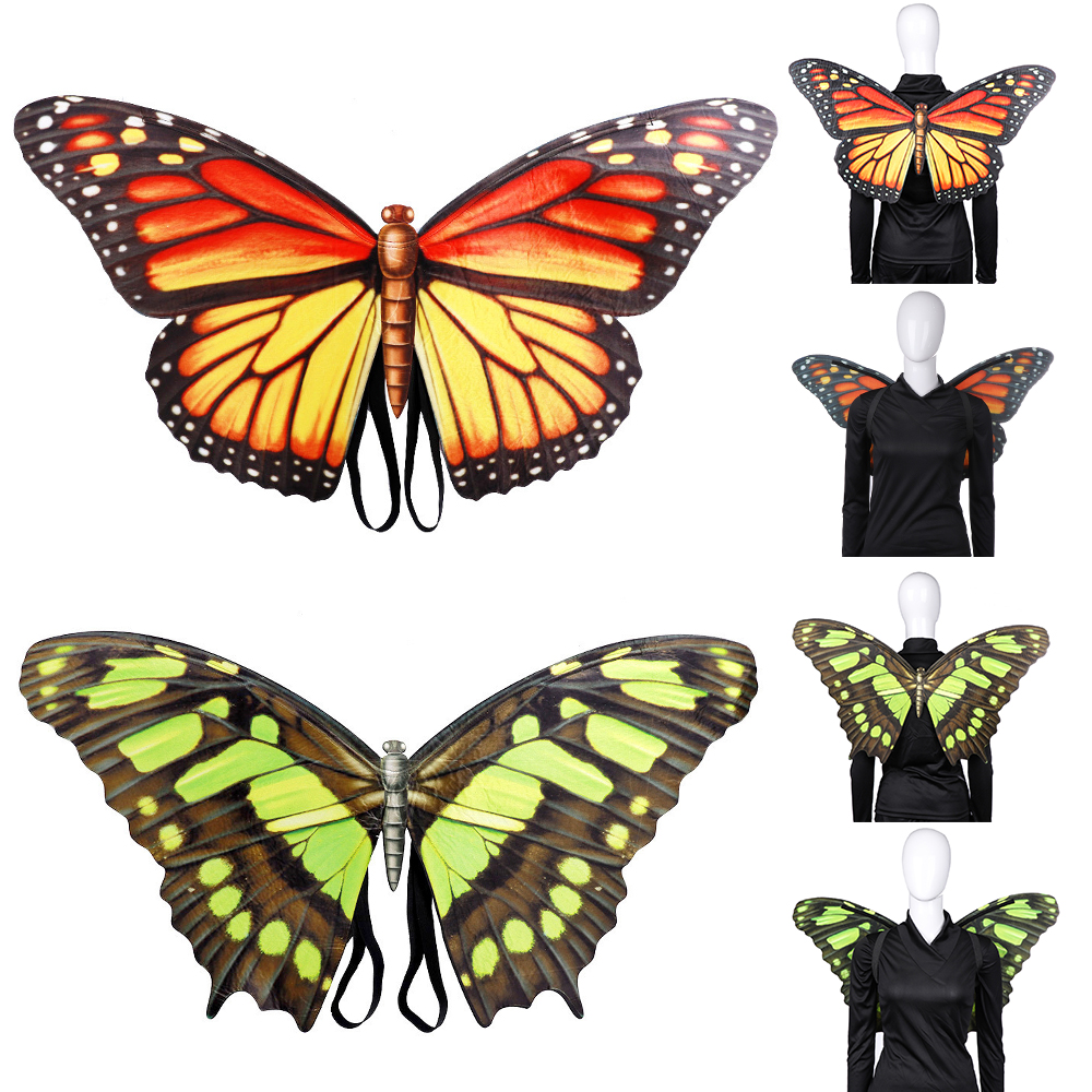 Monarch Butterfly Womens Adult Insect Wing Halloween Costume Cape