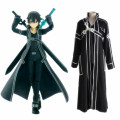 Kirigaya Kazuto cosplay costumes Japanese anime  Sword Art Online clothing(Cloak+pants+T-shirt+parts)