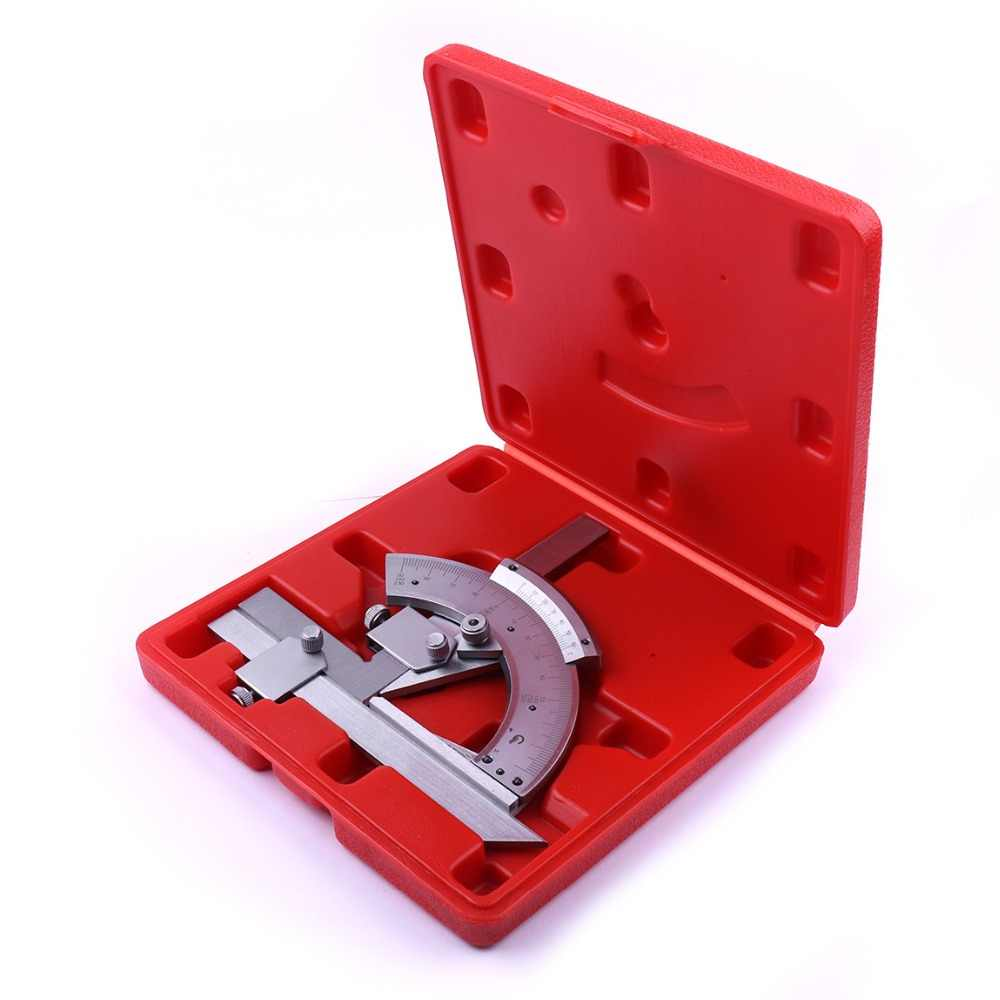 Universal Bevel Protractor 0-320 Degree Precision Angle Measuring Finder Ruler Tool for Measuring inner and outer Angle parts